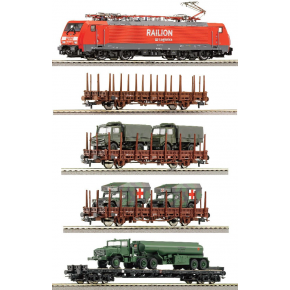 Train miniature Coffret digital Train militaire DB AG Roco