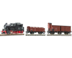 Loco Tender serie 89 - 2 wagons marchandises EP.III-DR - HO