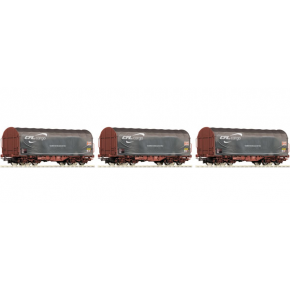 Set 3 wagons baches CFL Roco HO