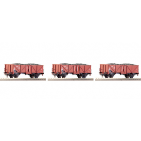Set 3 wagons tomberaux DB Roco HO