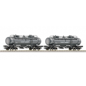 Set 2 wagons citernes ciment DB Roco HO