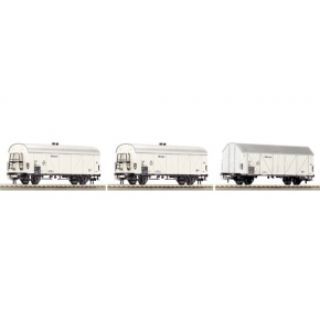 Set 3 wagons refrigerants DB Roco HO