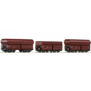 Set 3 wagons tremie PKP Roco HO