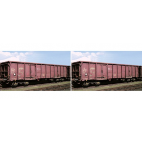Set 2 wagons tombereau CD Roco HO