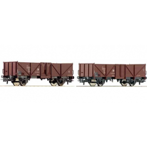 Set 2 wagons tombereaux DR Roco HO